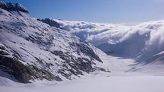 Przełecz Oberaarjoch (3012m) i lodowiec Oberaargletscher