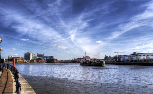 A ship in the Ship Canal, Manchester