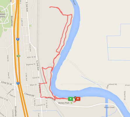 Today's awesome walk, 3.41 miles in 1:05 by christopher575
