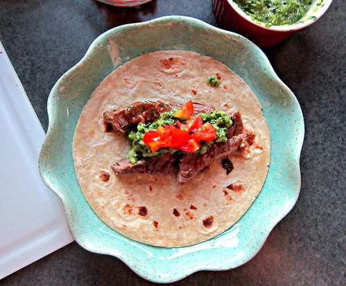Citrus Steak Tacos with Cilantro Chimichurri Sauce