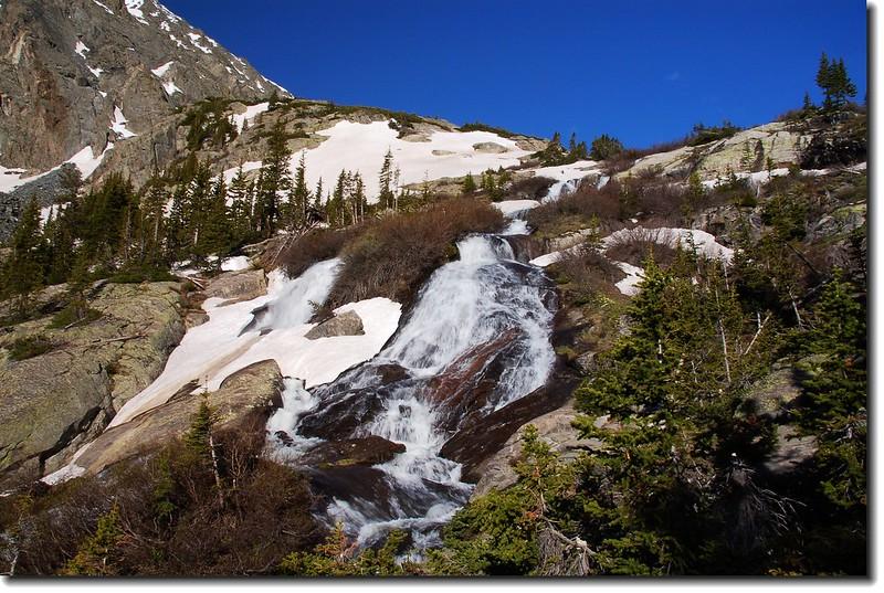 The waterfall through McCullough Gulch is spectacular