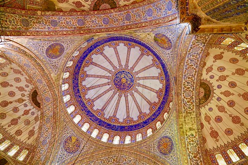 Inside the Blue Mosque (Sultan Ahmet Mosque)