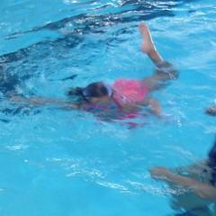 I love how she hyperextends when she #kicks. #swimming #pool #lesson