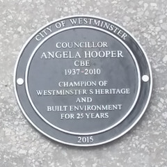 Photo of Angela Hooper black plaque