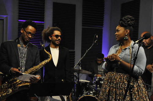 Amari Ansari and Ashlin Parker with Quiana Lynell and the Lush Life.  Photo by Leona Strassberg Steiner.
