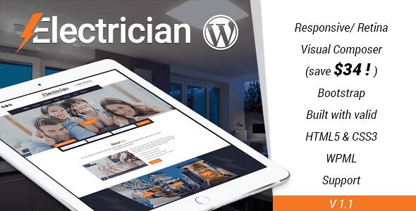 Electrician WordPress Theme free download