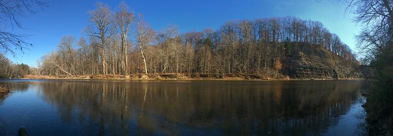 Rocky River View by Alice Merkel