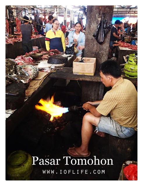 membakar daging pasar tomohon