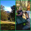 Such a beautiful day for a birthday barbecue...EXCEPT for the 120kmh winds!! Big tree limb fell on BBQ just as it was called off for the day. Lucky!  // #outdoors #beautiful #nature #landscape #mountain #tasmania #kids #picnic #friends #pretty