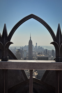 Downtown and the Empire State Building from 30 Rockefeller Center