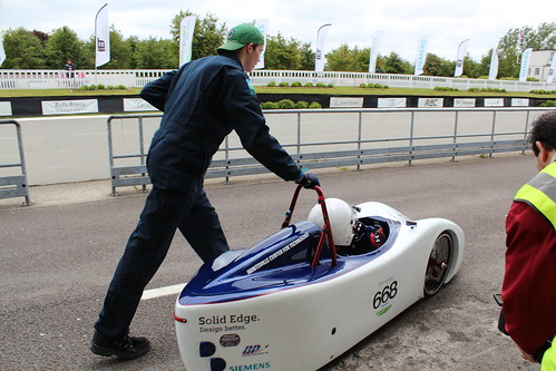 Sean Webb used Solid Edge in the design of this Greenpower electric vehicle