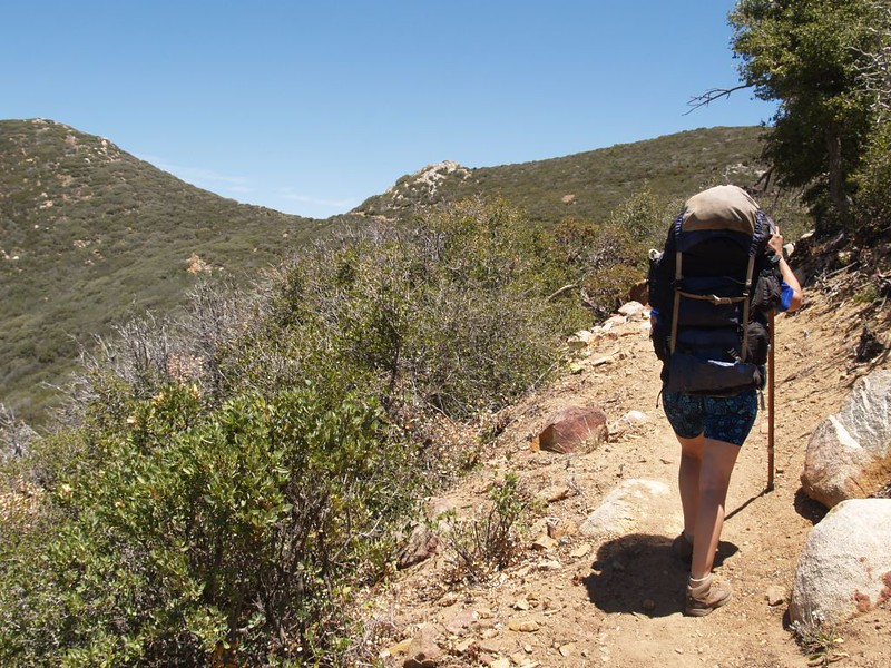 Nearing the saddle at the top of Penrod Canyon on the Pacific Crest Trail