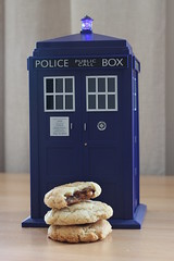 Snickers filled cookies in Doctor Who's Police Box