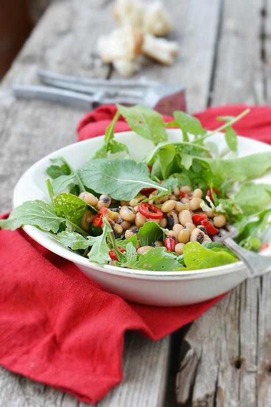beans and ruccola salad.7