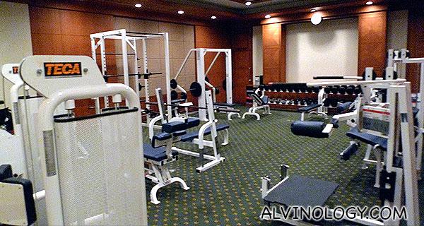 Weights training area