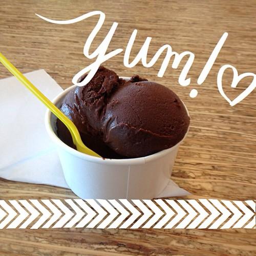 My favorite vegan dessert - chocolate sorbet from #sweetrepublic