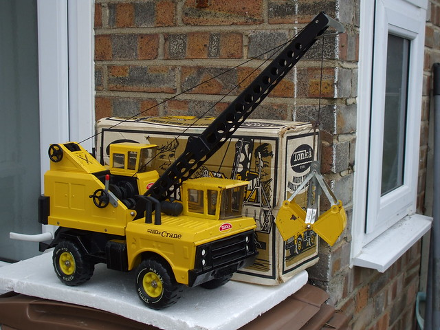 Vintage Tonka Toys Mobile Crane Made In The USA Bought Today At A UK Car Boot Sale A Proper Big Boys Toy ...Boxed As Well ...