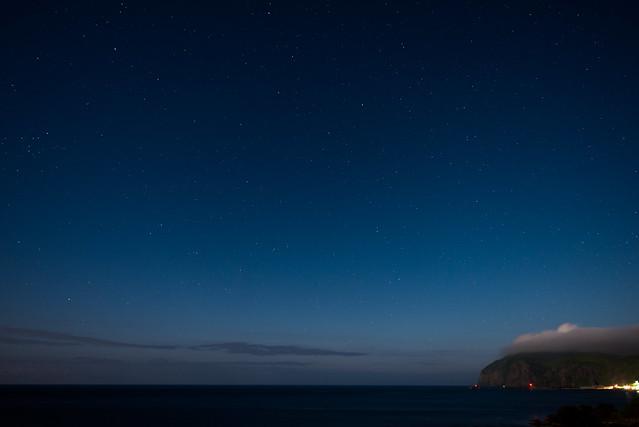 礼文島 桃岩荘からの夜景