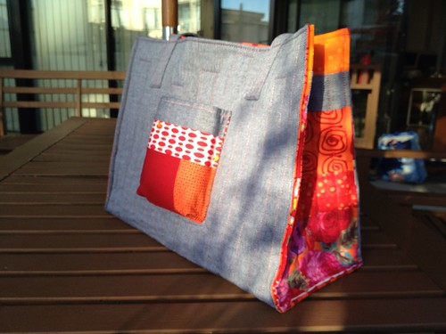 Finished tote for the #mqgmeetuppdx !