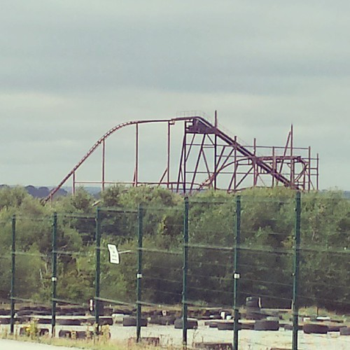 That's the top of the rollercoaster at Camelot Theme Park. So sad that its closed and the rollercoaster is derelict.