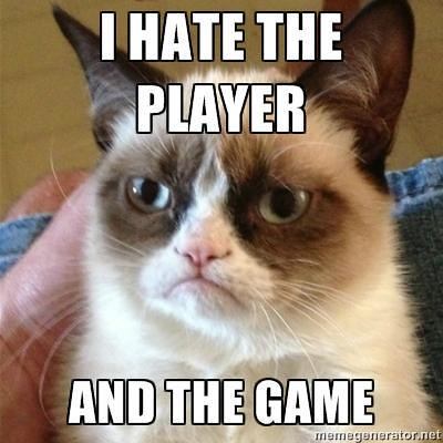 Grumpy Cat hates the player