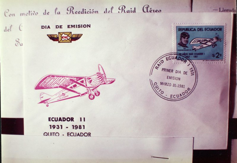 Envelope with stamps from Ecuador