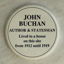 Photo of John Buchan blue plaque