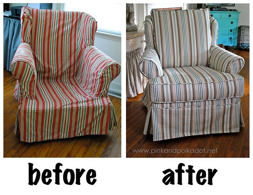Striped Slipcover Chair