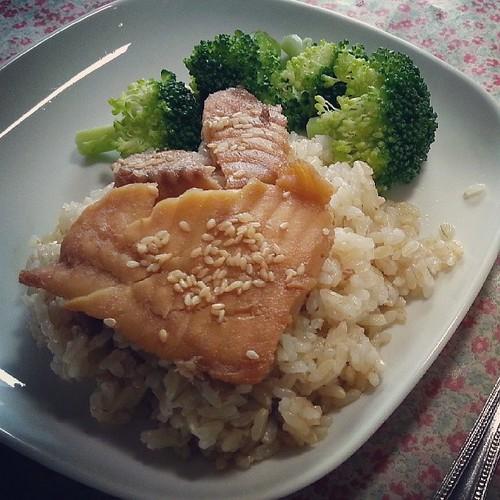 新菜色-自製照燒鯛魚排飯