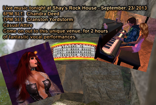 Chandra Deed and Cranston Yordstorm rock Shay's Rock House tonight at 6PM SLT by CranstonYordstorm