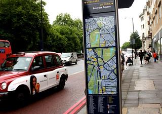 ロンドンの街頭地図