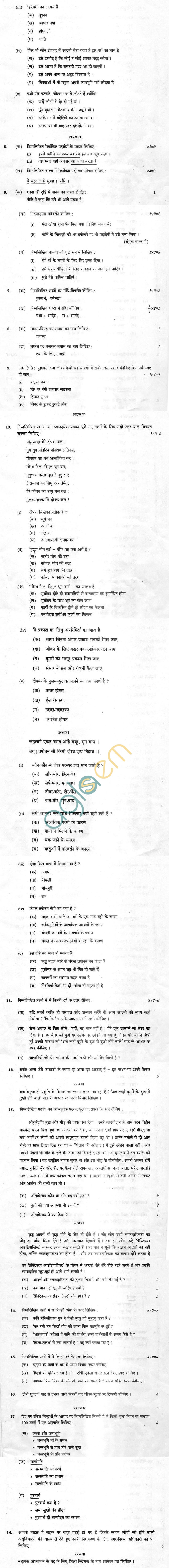 CBSE Compartment Exam 2013 Class X Question Paper - Hindi (Course B)