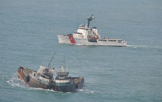 Coast Guard Cutter Dauntless arrives on scene, Thursday, Oct. 31, to assist and escort the tug vessel Lacheval after the captain contacted the Coast Guard reporting the vessels he had in tow were listing into each other. (U.S Coast Guard photo)  Read more: http://www.dvidshub.net/image/1044323/coast-guard-responds-tug-vessel-requesting-assistance#.UnO0R_nYfh4#ixzz2jP1V1NID