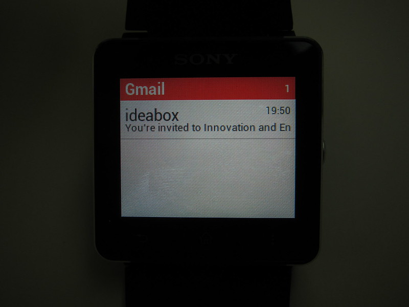 Sony SmartWatch 2 - Gmail App