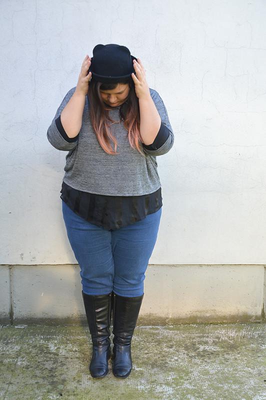 outfit nero e grigio 1