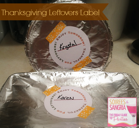 Thanksgiving Leftovers Free Printable Label