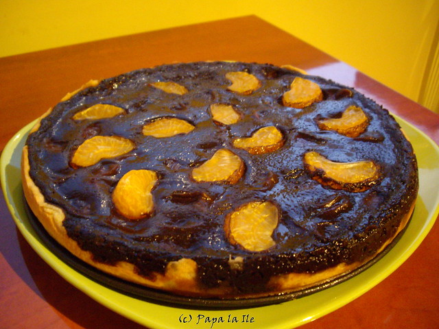 Tarta cu ciocolata si mandarine (1)
