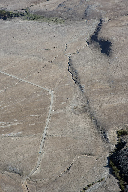 Aerial view of the San Andreas Fault, Burro Flats, Riverside County, California