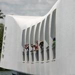 Tourists on the Arizona memorial, Oahu