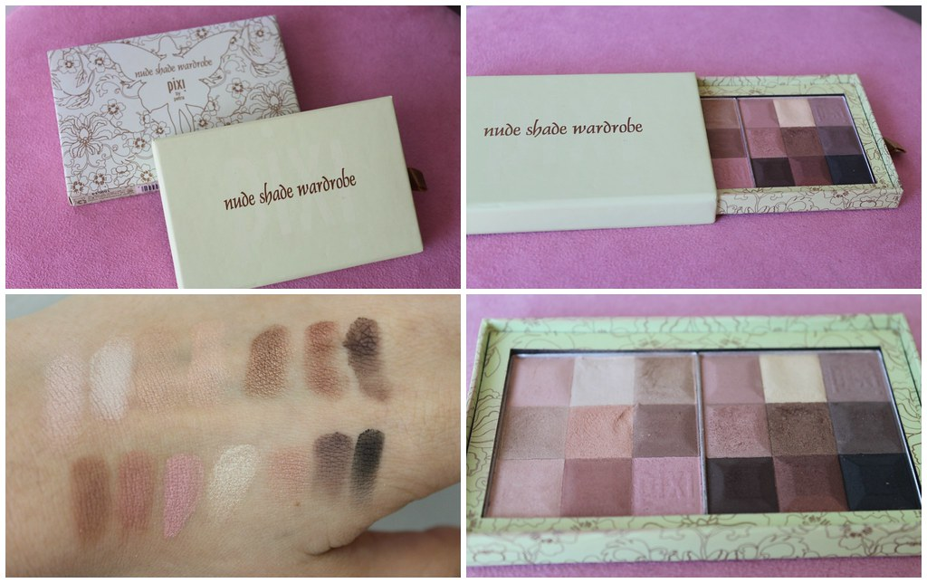 pixi target nude shade wardrobe palette makeup beautiful pretty naked neutral color shadow eye eyeshadows box australian beauty review ausbeautyreivew blog blogger honest opinon swatch