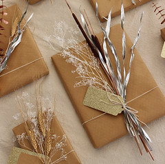 Mixed Metal Natural Gift Toppers