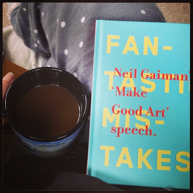 This morning's pre-writing reading. @neilhimself's Make Good Art. #yearofmaking 21/365