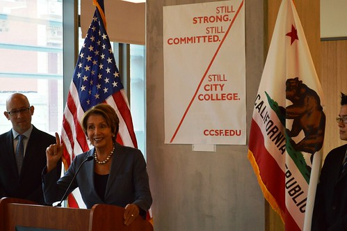 Congresswoman Pelosi delivers remarks at City College of San Francisco