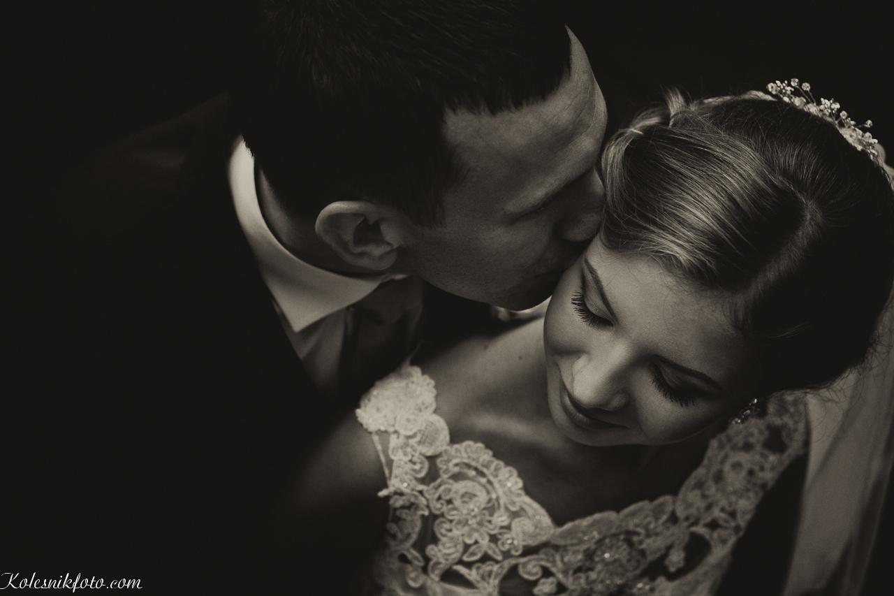 Нежная свадебная фотография