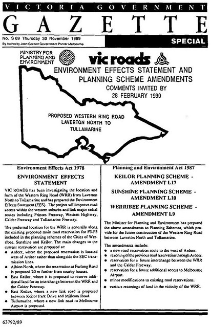 Government Gazette dated 30 November 1989