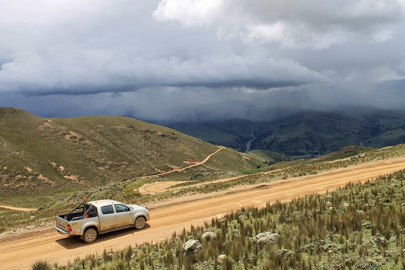 Nearing the Huancapeti mine in the Cordillera Negra