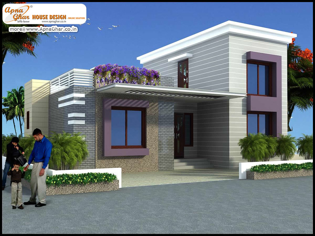 Apnaghar House Design: 3 Bedrooms Simplex House Design In