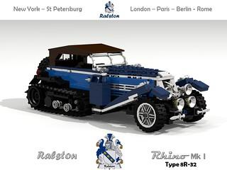 Ralston Rhino Mk I Type 8R-32 (1932) Tourer Half Track
