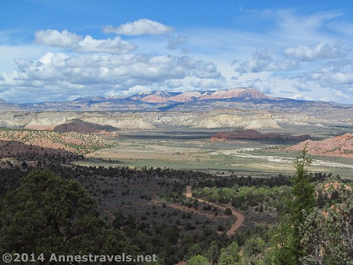 The view from our camp spot in Camp Cannonville, Grand Staircase-Escalante National Monument, Utah