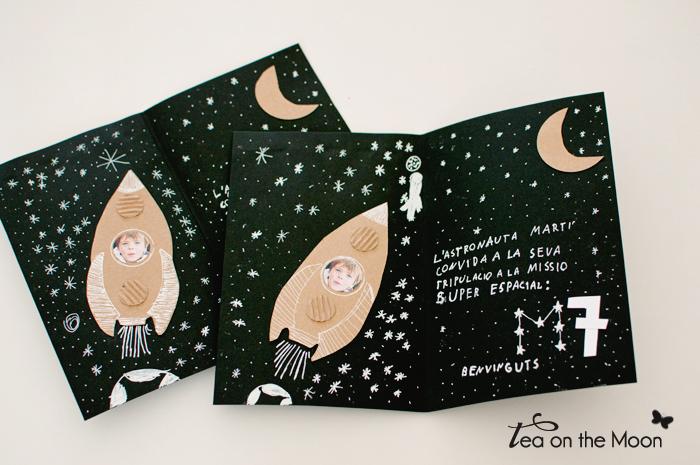 invitación cumpleaños astronauta fiesta del espacio detalles